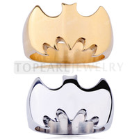 Band Rings batman ring tones - Teboer Jewelry Silver Gold tone Batman Cool Ring R2301