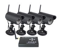 Wholesale Wireless Digital Night vision Camera Kit amp H CCTV CH QUAD SD DVR F2111A4