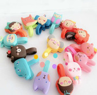 Power Cable audio monkey - Free Ship D Cartoon Bear Lion Monkey Rabbit Cable Tie Earphone Data Audio Cable Fastener Organizer Smart Muted Line Fixer Xmas Gift