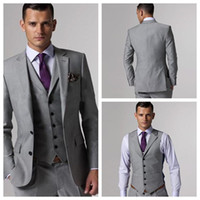 Cheap Reference Images Groom Tuxedos Best Tuxedos Three-piece Suit Men Business Suits