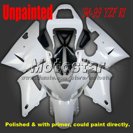 polished unpainted fairings for YAMAHA 1998 1999 YZF R1 98 99 YZFR1 98 99 yzf r1 fairing kits with gifts YZF-R1