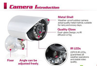 Wholesale 1 TVL Color CMOS Water Resistant IR LED CCTV Surveillance Security Camera w Axis Bracket H202 White