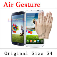 Wholesale Original size i9500 S4 Air Gesture Quad Core Android MTK6589 Phone G RAM G ROM With Screen Cell Phone