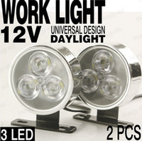 led lights 12v car - 2pcs W V V LED Work Light Lamp Vehicles Truck Car Forklift Off road ATV