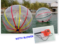 Wholesale Colorful Water ball Material mm Ball Diameter M TPU inflatable Zorb Water Walking Ball water sport Germany TIZIP zipper WITH BLOWER