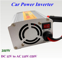 Wholesale DC V to AC V V W Car Auto Power Inverter Converter Charger Adapter USB