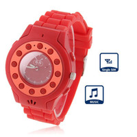 Wholesale Red C5 GPS Tracker Children SOS Watch Mobile Phone for Kids Security GSM Quad Band Single Sim Unlocked AGPS MP3 Bluetooth