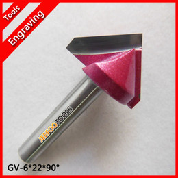 Wholesale 6 D V wood router bits cnc tool router bit end mill for MDF Plywood cork plastic acrylic PVC
