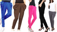 Wholesale ashion Lady s Colorful Drape Harem Pants Hip Hop Stretchy Trousers