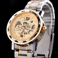 Wholesale LUXURY Semi Automatic Police Mens Mecanical Sport Army Wrist Watch Silver Stainless