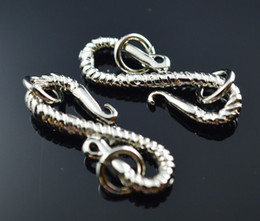 Free Shipping 22*7mm Fashion New Style S Shape Imitation platinum plated Toggle Clasp Jewelry Findings