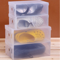 Wholesale Transparent Child Lady Man Stackable Clear Plastic Shoe Storage Boxes Case Organizer Drawer Storage Shoe Boxes