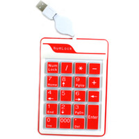 Standard computer keyboard - Computer Keyboard Multicolour Silica Gel Digital Keypad Keyboard Computer Retractable Line Keyboard
