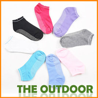 Wholesale Summer lady Yoga socks anti skid socks candy colored cotton shallow mouth massag e socks colors
