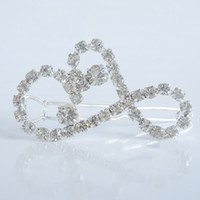 Wholesale Rhinestone Hairpin Porcelain Girls Hair Clips Bridal Barrettes Blingbling Headdress Factory Supply