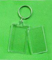 acrylic blanks - 200X Blank Acrylic Rectangle Keychains Insert quot x quot Photo Keyrings Key ring chain
