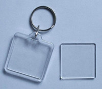 Clear acrylic keychain blank - Photo Keychain Blank Acrylic Square Personalized Keychain Gift Custom Photo Keyrings
