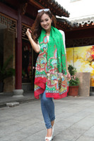 Wholesale Flower print scarf shawl scarves Sun Beach cm Mix color by freeship For Spring and Autumn