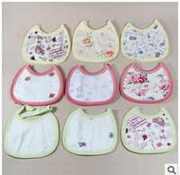 Color random delivery  Plain Cotton The lowest single saliva towel baby bib baby baby bib children cotton saliva towel chinese-style chest covering
