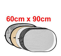 Wholesale 60cm x cm in Collapsible OVAL Reflector