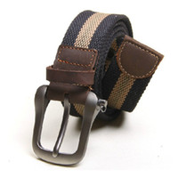 Wholesale 081907 Canvas Belt casual belts Men s belt pants strap belt in different colors leather belt with buckle drop shipping