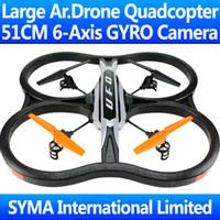 Wholesale 51CM Biggest Ghz CH With SPY Camera Cam Axis GYRO RC Quadcopter VS AR Drone WL V929 V262 V959 U818A Quad Copter Helicopter X30V