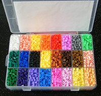 Unisex perler beads - Perler Beads color with Grids Storage Box Guaranteed DIY educational toys learing gift