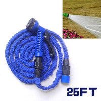 Wholesale 25FT Expandable Flexible Garden Water Hose With Spray Good Gun Nozzle