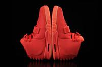 al por mayor bolso para el deporte de los zapatos-Kanye West 2 SP Rojo Octubre Calzado Deportivo Con Paquetes Originales Con Bolso De Polvo Zapatillas De Hombre Kanye West II 2 boost Glow Dark Outdoor Athletic