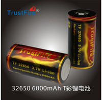 Wholesale 2PCS New TrustFire Battery V mAh Rechargeable Lithium Li ion Recharge Protected Batteries
