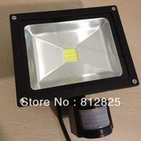 Luz de inundación infrarroja pasiva del sensor de movimiento de DHL Free + 2PCs / lot 20W LED PIR o luz humana del sensor para 85V-265V