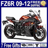 Wholesale 7 free gifts Orange black For yamaha FZ6R FZ R FZ R FZ R MK1241 Orange Top COOL C Body Fairing