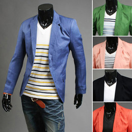 Wholesale new winter men s two single breasted suit leisure suit jacket bright personality Men s Fashion
