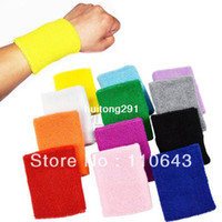 Wholesale New Colors Wrist Support Sports Band Wristband Wrist Protector Sweatband Basketball Tennis Volleyball Badminton Cycling