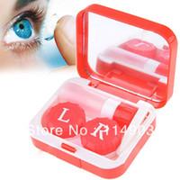 Wholesale Case Plastic Contact Lens Mate Box Case Color Assorted