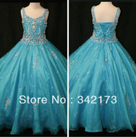 Wholesale Fairytale Beaded Patterns On Bodice Little Rosie Pageant Dress For Girls Sheer Overlay Girls Pageant Dress Gowns