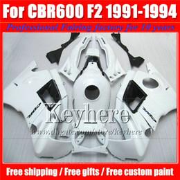 2017 91 carenados honda cbr Popular F2 91 92 93 94 cbr600 carenado negro blanco kits de carrocería para Honda CBR 600 1991 1992 1993 1993 carenado carenado con 7 regalos Pj36 91 carenados honda cbr promoción