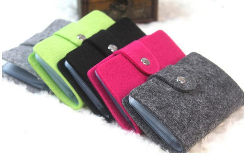 Fashion Business Credit Card Holder Bags Leather Strap Buckle Bank