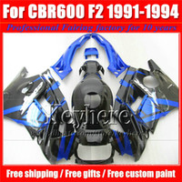 ABS For Honda Before 2000 Popular black blue F2 91 92 93 94 cbr600 fairing body kits for Honda CBR 600 1991 1992 1993 1994 fairings bodywork with 7 gifts Pj57