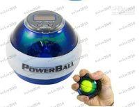 Wholesale LLFA1724 New PowerBall Gyroscope LED Wrist Strengthener Ball SPEED METER Power Grip Ball Power Ball Freeship