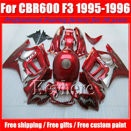 Free 7 gifts red black customize motorcycle fairing kit for Honda CBR 600 95 96 hot sale plastic CBR600 1995 1996 F3 fairings set Ky7