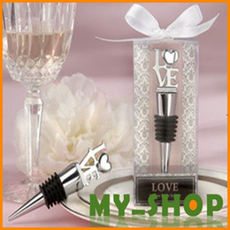 Wholesale Wedding Ceremony Supplies Favor company annual lottery business gifts small gifts classic LOVE wine corks Bottle Stoppers