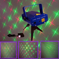 Auto strobe laser light - Mini Laser Stage Light DJ Stage Lamp Disco Dance Floor Lights Party Light Green Red Laser mW