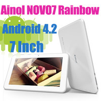 Wholesale 7 Inch Android Tablet pc Ainol Novo Rainbow ICS Boxchip A13 MB DDR3 GB Capacitive Multi Screen Resolution Pixels Point