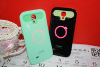For Samsung i-glow cases - Top Quality i Glow Night Glow Luminous Silicone Hybrid Hard Back With Stand Protector Case Cover for Galaxy S4 i9500