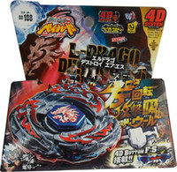 Wholesale 4D metal fusion spinning spin toy Steel fighting spirit beyblades D beyblade bb105 bb106 bb108 bb109 bb111 bb114