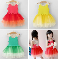 Wholesale Girls Baby Girls Dresses princess dress girls lace vest skirt gauze dress girl tutu dress summer dress skirt Kids Christmas Dress T