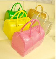 Wholesale HOT Korean version candy bag pillow bag colored Silicone jelly bag handbag Boston colorful handbags designers brand cross body bags