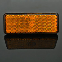 amber reflectors - 2X Amber Rectangle LED Reflectors Turn Signal Light Universal Motorcycle Reflectors lights