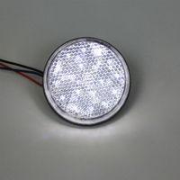 Wholesale 5 off White LED Reflector Round Brake Light Universal Motorcycle Car Truck